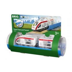 Tren de pasajeros y Túnel
